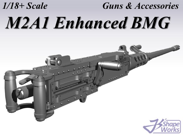 1/18+ M2A1 Enhanced BMG in Smoothest Fine Detail Plastic: 1:18