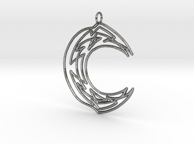 Celtic Lunar Knot Silver in Polished Silver