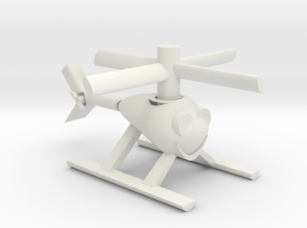 Happy Heli with moving parts in White Natural Versatile Plastic