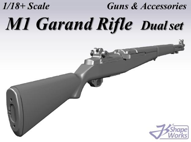 1/18+ M1 Garand Rifle Dual set in Smoothest Fine Detail Plastic: 1:18