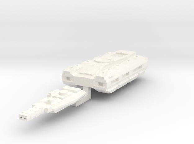Coyote II 6mm in White Processed Versatile Plastic