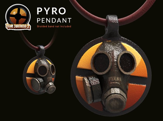 Team Fortress 2 - Pyro Collectible Pendant | Keych in Glossy Full Color Sandstone