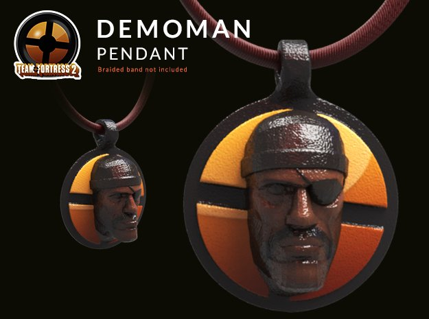 Team Fortress 2 - Demoman Pendant | Keychain in Glossy Full Color Sandstone
