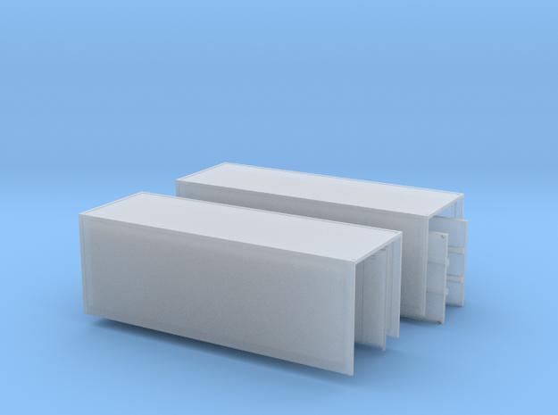 2 x Koffer mit offenen Türen  Spur N 1: 160 in Smooth Fine Detail Plastic