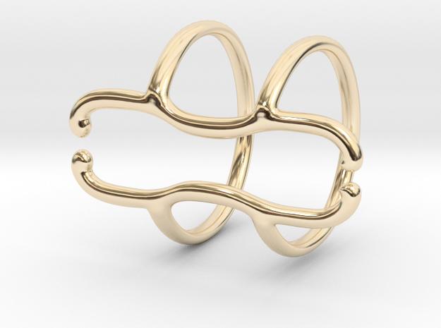 End Splint - 8 (14,75 mm + 13,5 mm) in 14k Gold Plated Brass