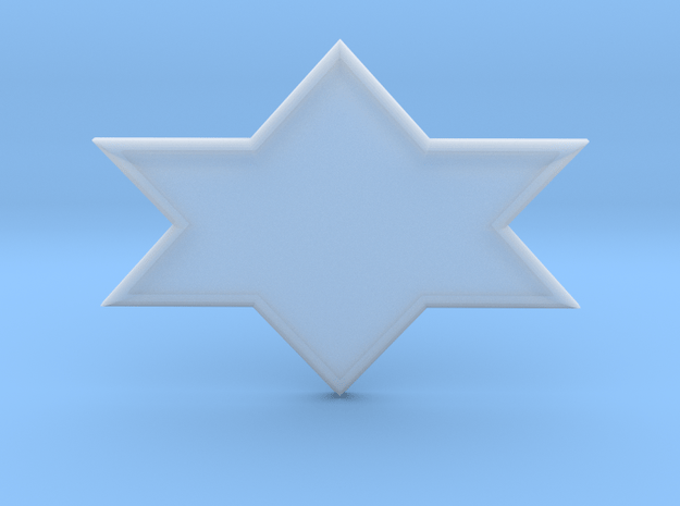 Star of David in Smooth Fine Detail Plastic