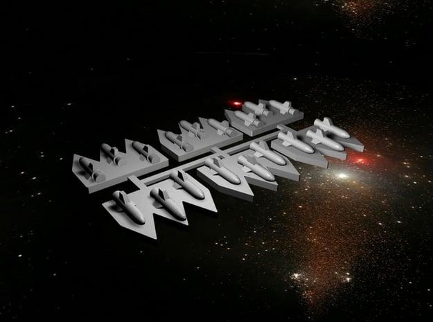 6 Space Battlefleet Torpedo Markers in White Natural Versatile Plastic