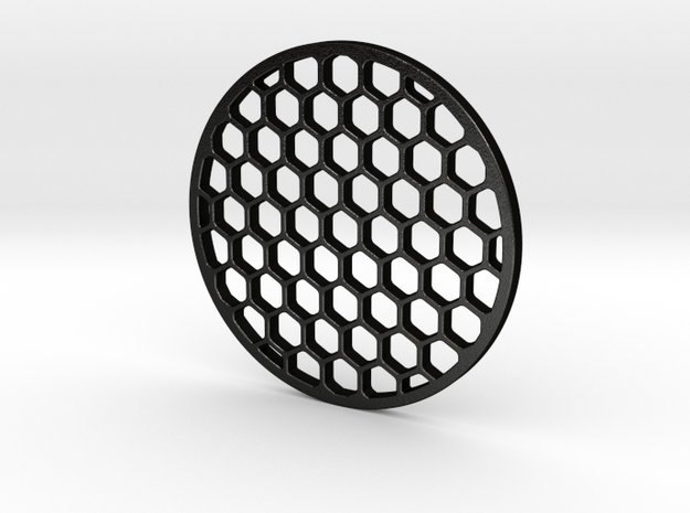Honeycomb killflash 57 mm diameter 3 mm thick in Matte Black Steel