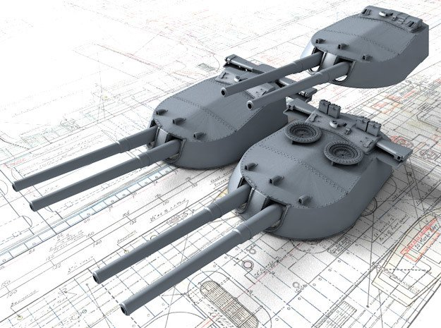 1/350 MKI* HMS Repulse Guns 1941