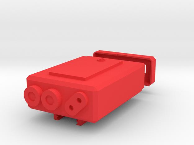Futuristic PEQ Box for Anker PowerCore 10000 in Red Processed Versatile Plastic