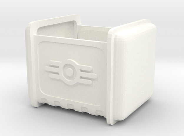 PipBoy Crate in White Processed Versatile Plastic