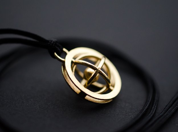 Rotating Planet - Time Turner inspired in Natural Brass (Interlocking Parts)