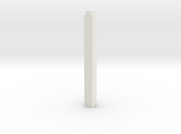 Triple Underpass West Wing Wall Pillar in White Natural Versatile Plastic