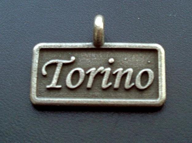 Rectangular Pet Tag in Polished Bronzed Silver Steel