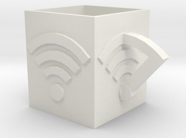 WifiCup in White Natural Versatile Plastic: Medium