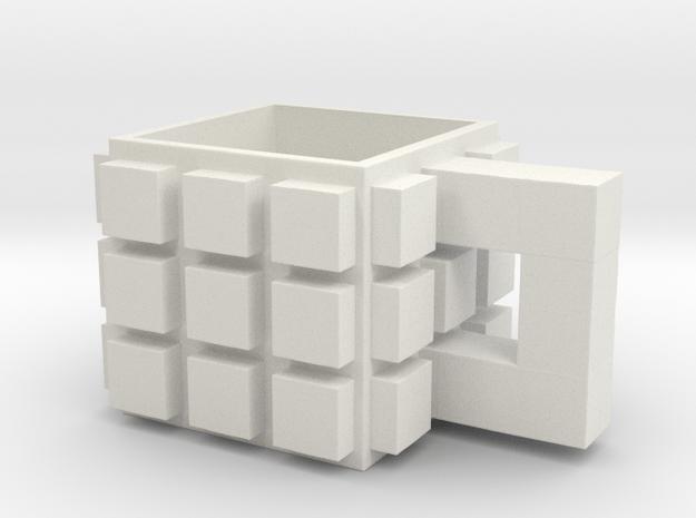 CupCube2 in White Natural Versatile Plastic: Medium