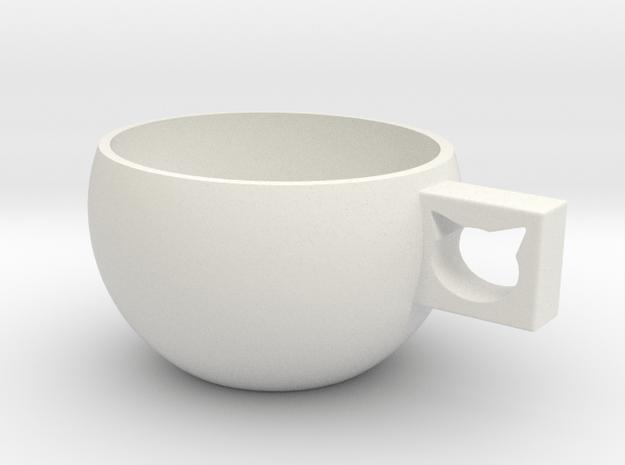 CatCup in White Natural Versatile Plastic: Medium