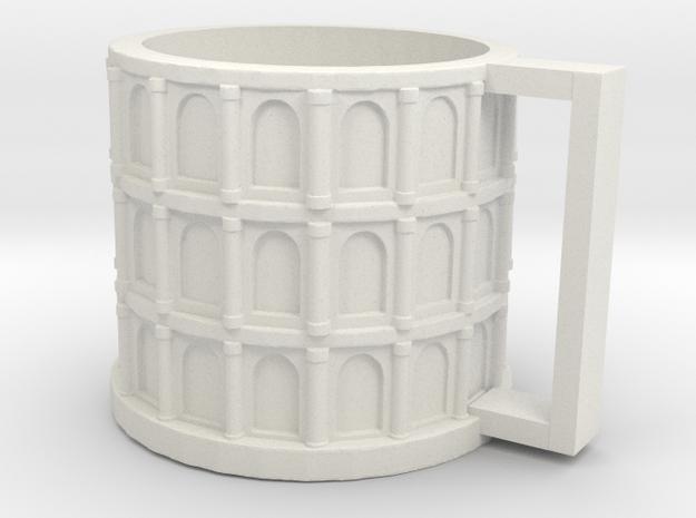 Colloseum Cup in White Natural Versatile Plastic: Medium