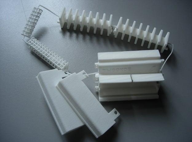 HV Coils parts set in White Natural Versatile Plastic