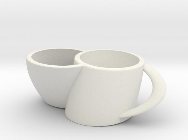 2joinCup C in White Natural Versatile Plastic: Medium