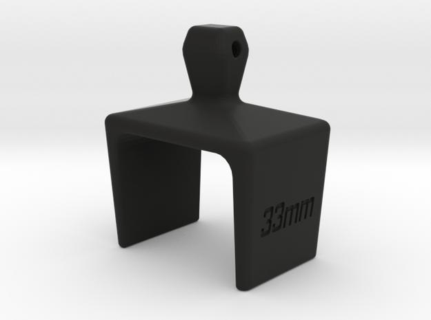 UCI Cyclocross Tyre Width Gauge 33mm in Black Natural Versatile Plastic