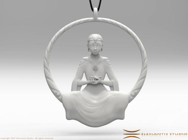 The Childlike Empress Pendant 5cm in White Premium Versatile Plastic