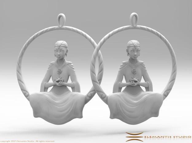 The Childlike Empress Earrings  in White Premium Versatile Plastic