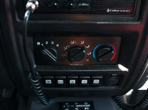 6x Contura and Passenger Side Power 97-01 Jeep XJ in Black Natural Versatile Plastic