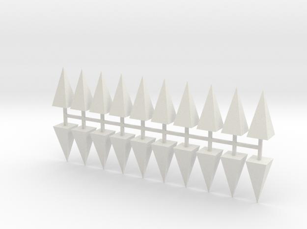 Parkhecke Buchsbaum Pyramide 20er Set - 1:120 in White Natural Versatile Plastic