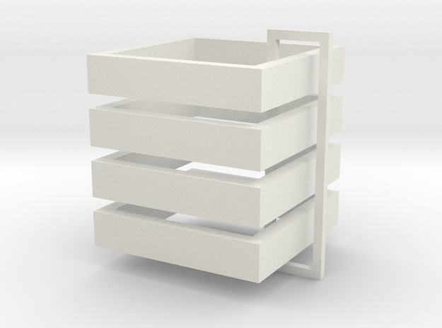Parkhecke quadratisch (Buchsbaum) 4er Set 1:120 in White Natural Versatile Plastic