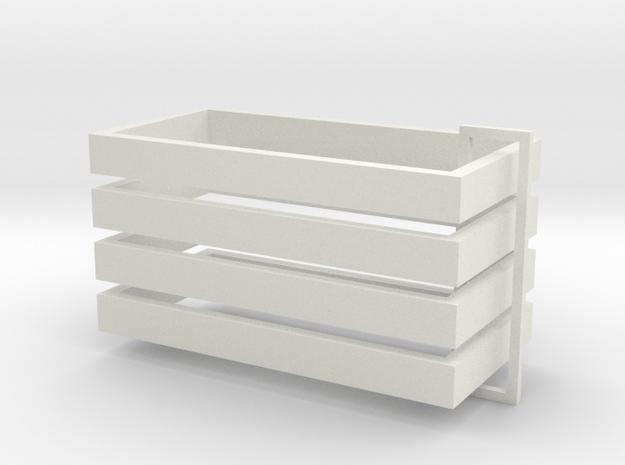 Parkhecke rechteckig (Buchsbaum) 4er Set 1:120 in White Natural Versatile Plastic