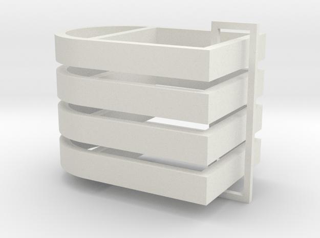 Parkhecke oval gekappt verstrebt (Buchsbaum) 4er S in White Natural Versatile Plastic