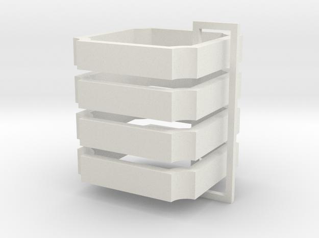 Parkhecke quadratisch Ecken eingerückt (Buchsbaum) in White Natural Versatile Plastic