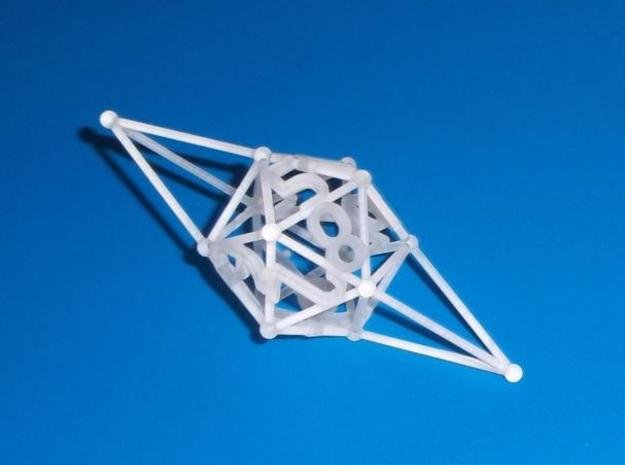 Stick die D12 in White Natural Versatile Plastic