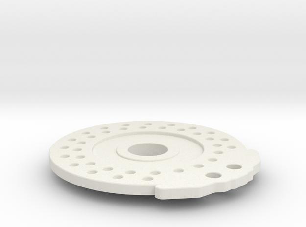 Disc Brake for 56mm Wheel_Disc in White Natural Versatile Plastic
