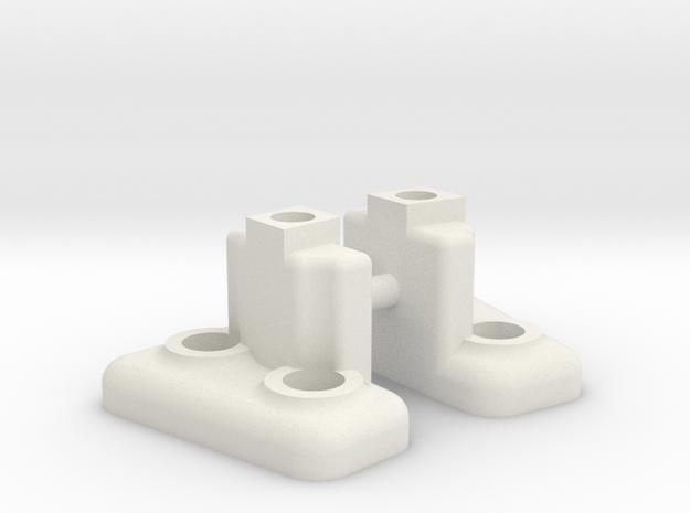 RC4WD Jack mounts in White Natural Versatile Plastic