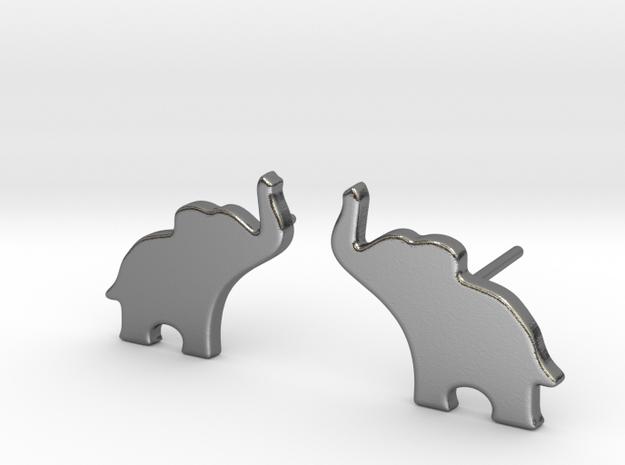 Elephant Earring in Polished Silver