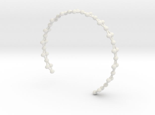 Frustrated Chain Cuff in White Natural Versatile Plastic