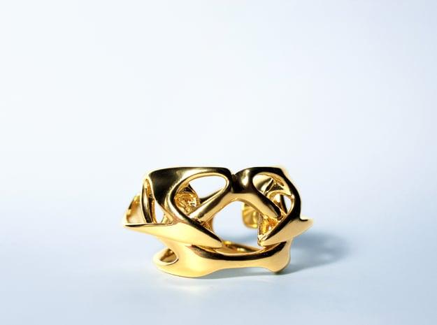 Uranie Ring in 14k Gold Plated Brass: 3 / 44