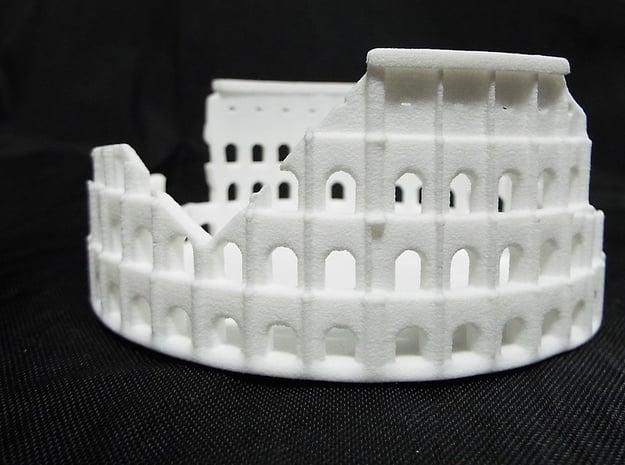 Ancient Colloseum in White Natural Versatile Plastic: Medium
