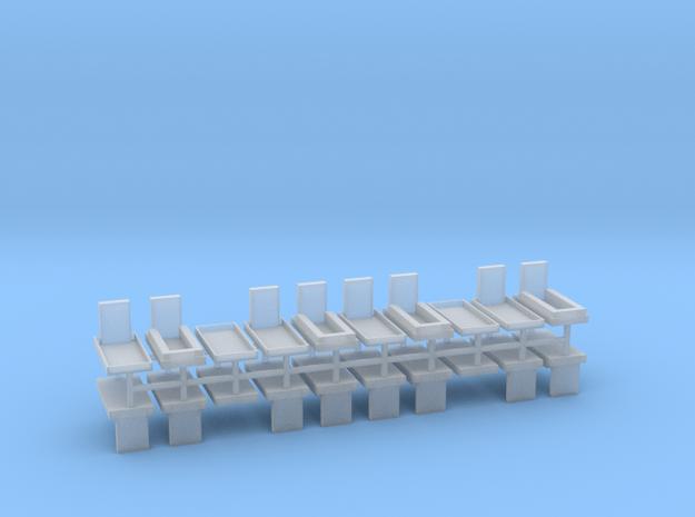 Gräber Set4 20erSet - 1:100 in Smooth Fine Detail Plastic