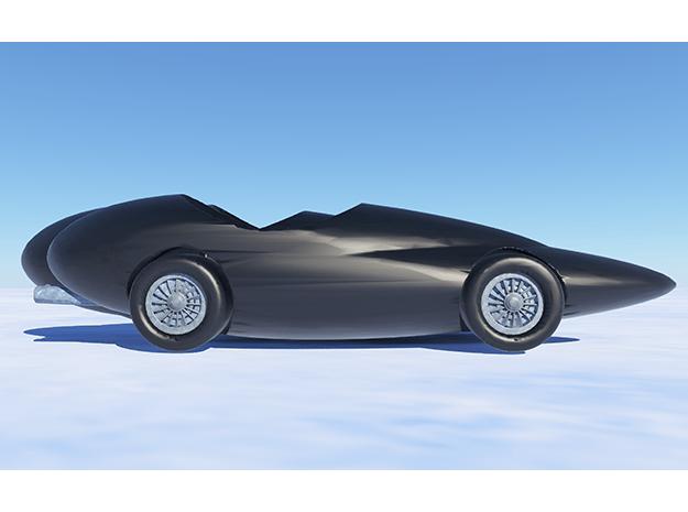 Car 87 in Black Natural Versatile Plastic: Small
