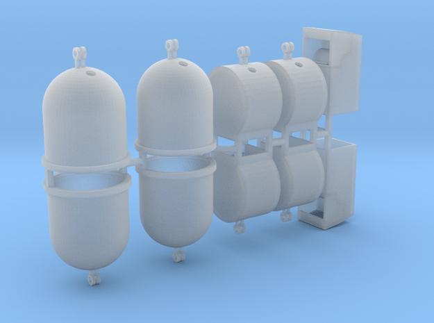 Wertstoffcontainerset 10er 1:76 in Smooth Fine Detail Plastic