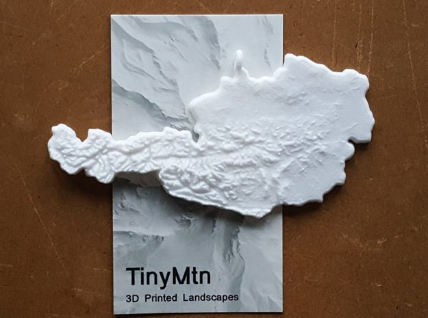 Austria Christmas Ornament in White Natural Versatile Plastic