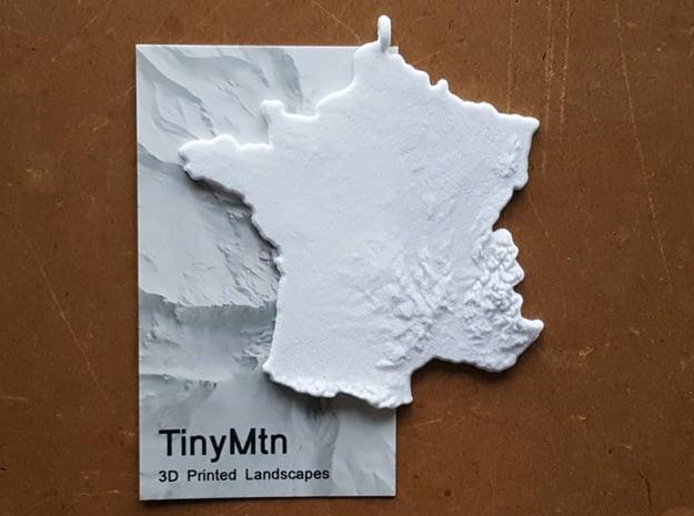 France Christmas Ornament in White Natural Versatile Plastic