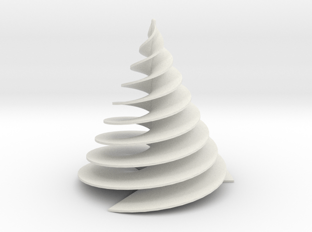 Spiral3Face-1 in White Natural Versatile Plastic