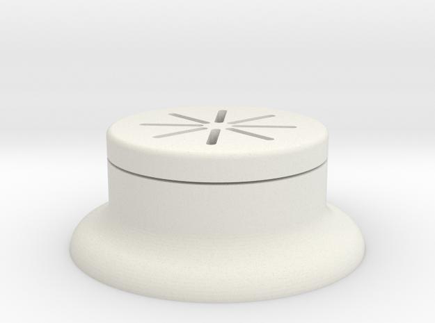 Push Button Guard in White Natural Versatile Plastic