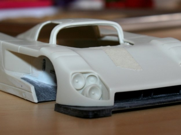 Toyota Eagle MkIII mid tub & wheel well exit, 1/24 in Smooth Fine Detail Plastic