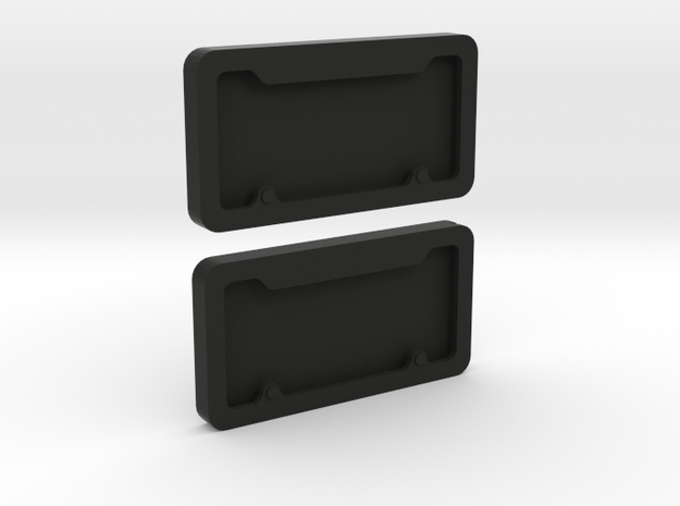 1/10 Scale License Plate Frames in Black Natural Versatile Plastic