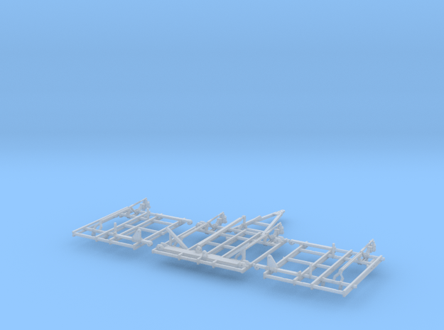 1/64 28 and 30ft field cultivator frame (part 1 of in Smooth Fine Detail Plastic